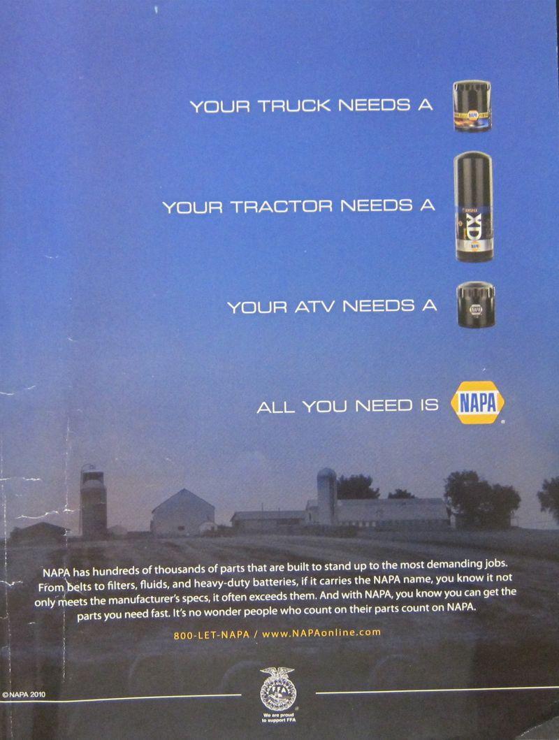 Older NAPA Autoparts ad