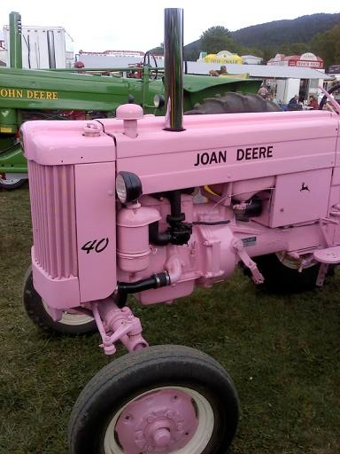 Side shot of the pink Joan Deere