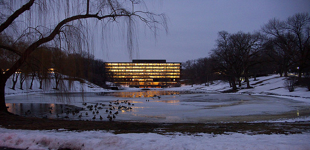 John Deere World Headquarters in Winter