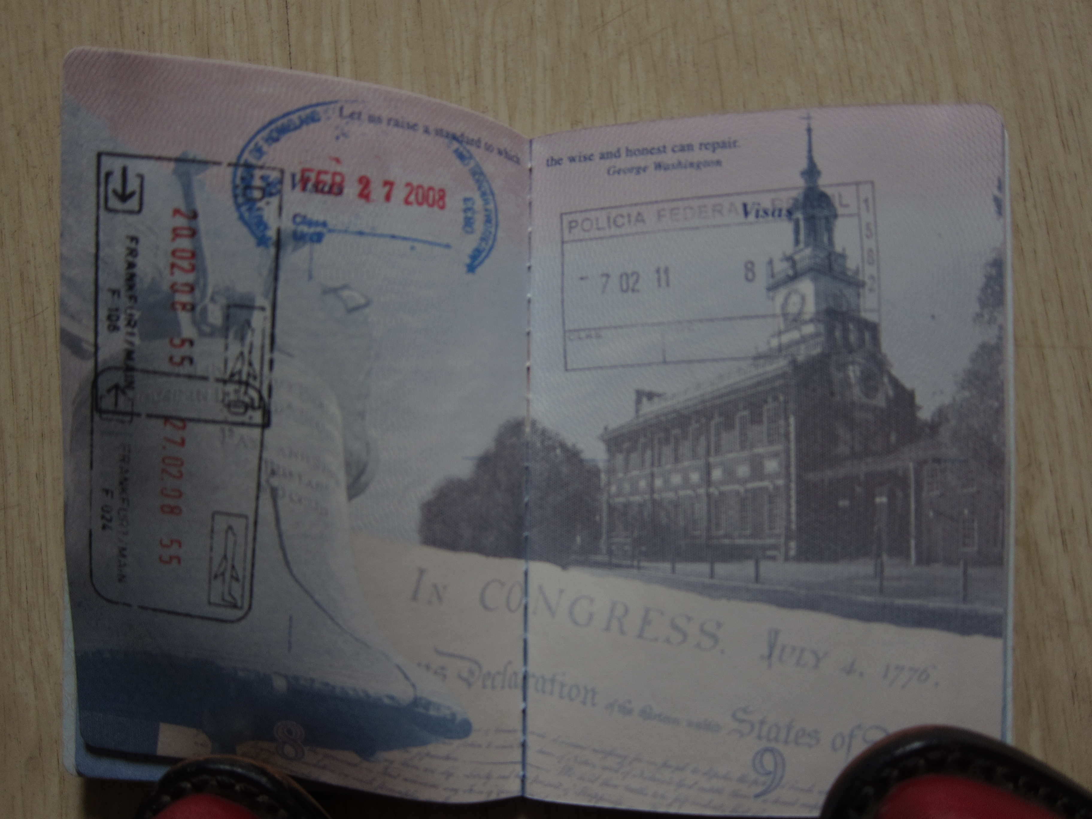 A few more pictures from brazil adventures in agriculture the toes of my red cowboy boots holding down my passport with entry stamp i had to get a visa to enter brazil which was a first for me ccuart Choice Image